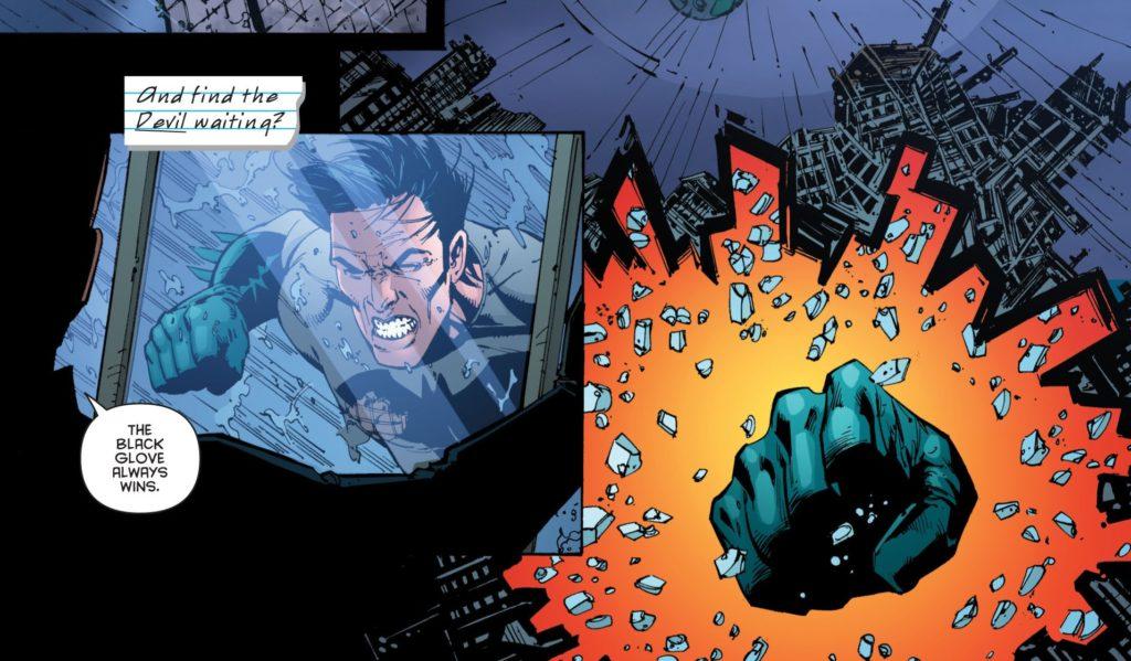 Batman fights the Black Glove