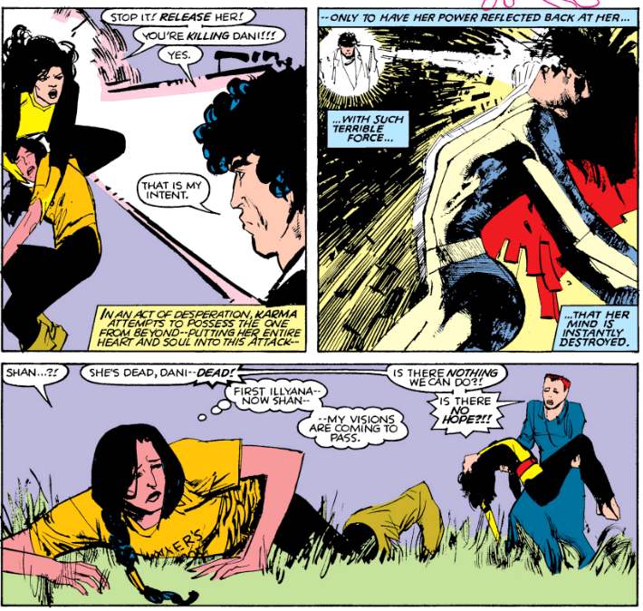 The Beyonder kills the New Mutants
