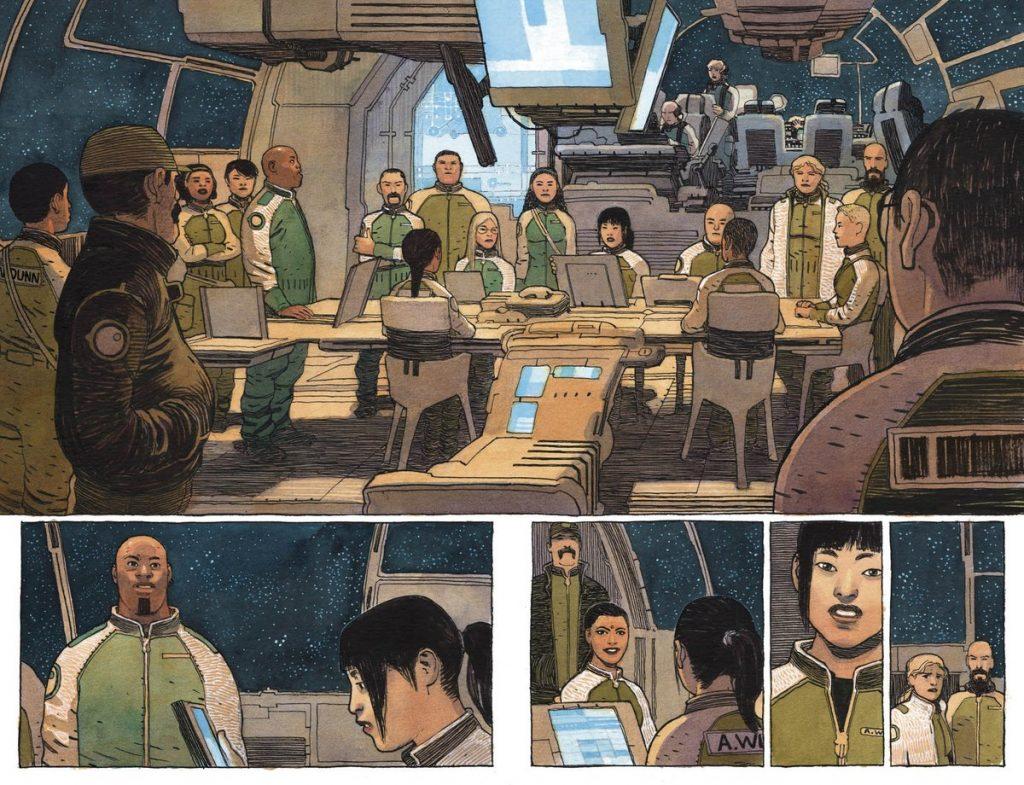 Gabriel Walta art on Sentient comics from TKO Studios