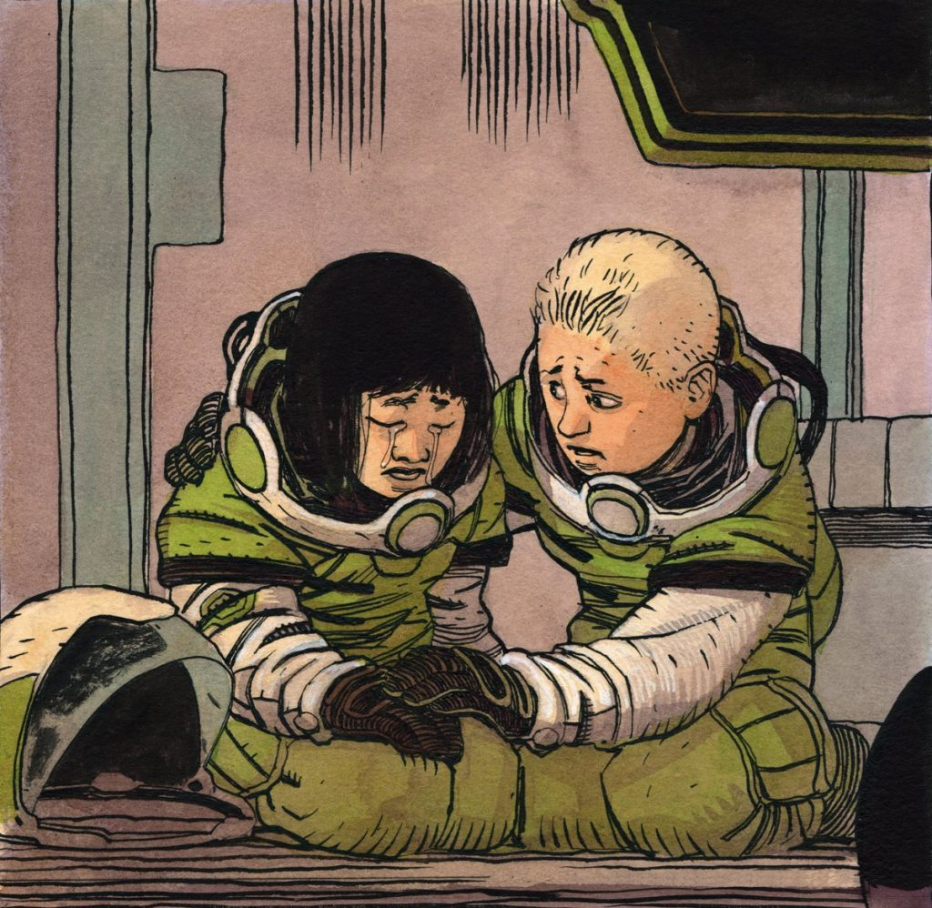 Kids on a spaceship in Sentient comic book and graphic novel