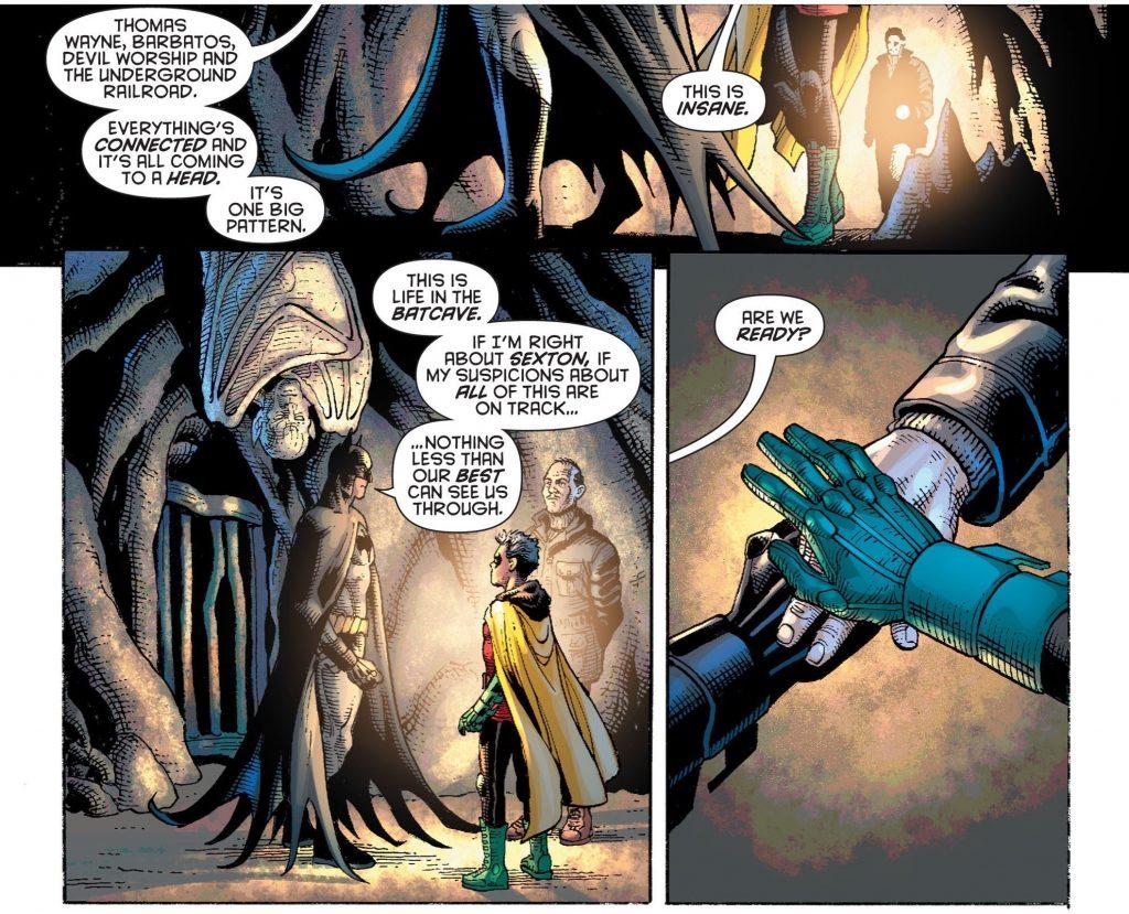 Batman and Robin in the new Grant Morrison run