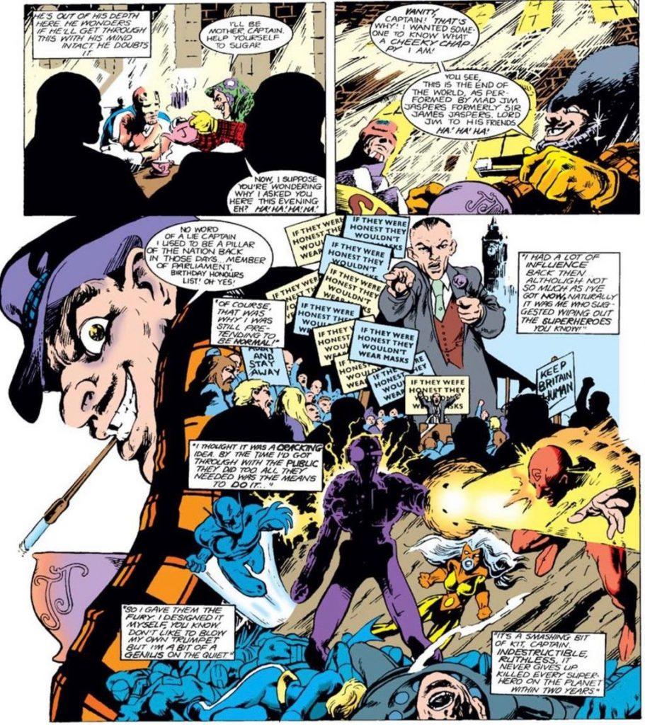 Jim Jaspers in Marvel UK Captain Britain