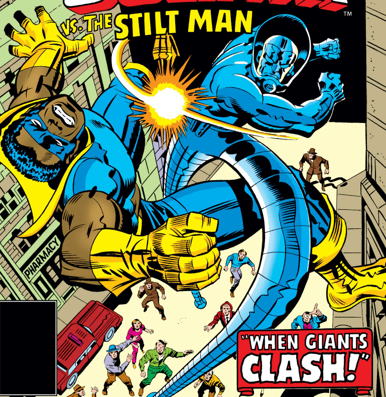 Black Goliath vs Stilt-Man