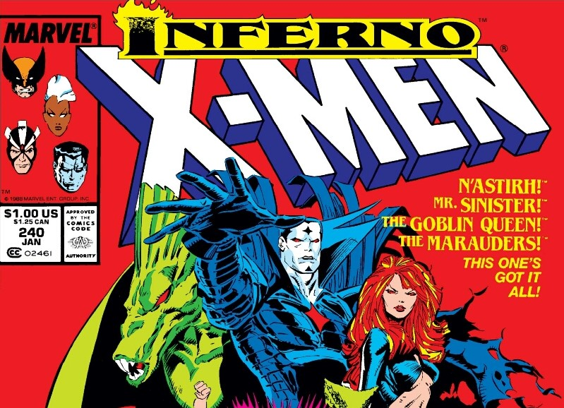 Mister Sinister in X-Men Inferno event comics