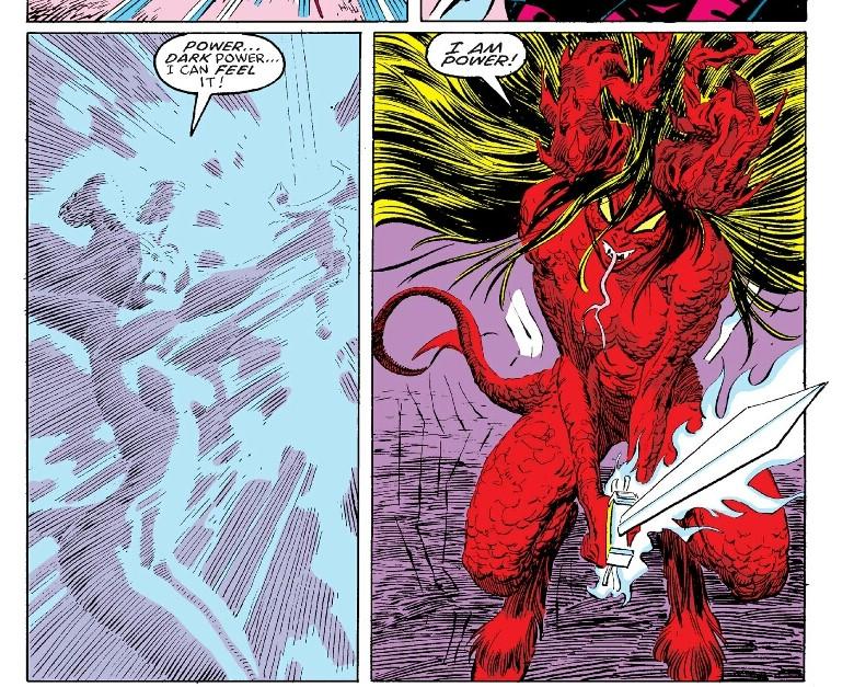 Illyana Rasputin as Darkchylde in X-Men Inferno