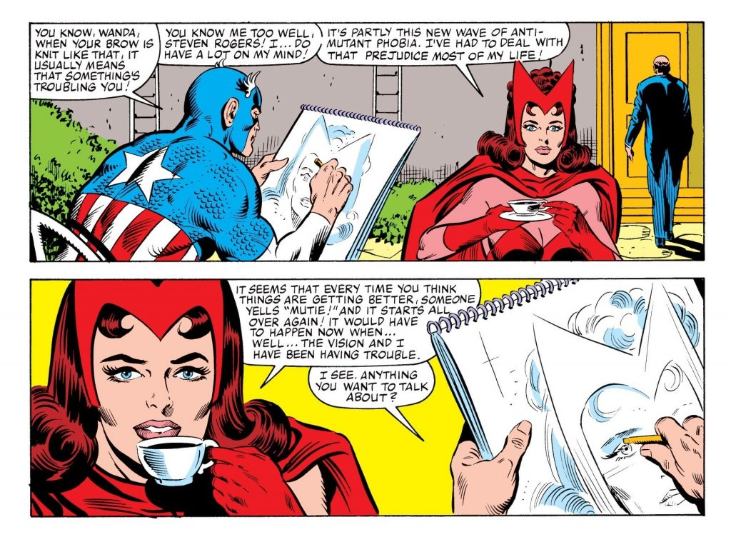 Scarlet Witch deals with mutant prejudice
