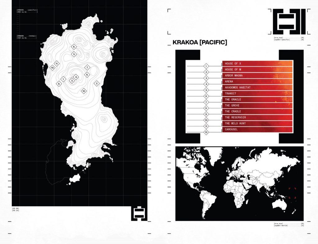 House of X 1 Map of Krakoa