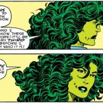 She-Hulk by Byrne breaking the fourth wall