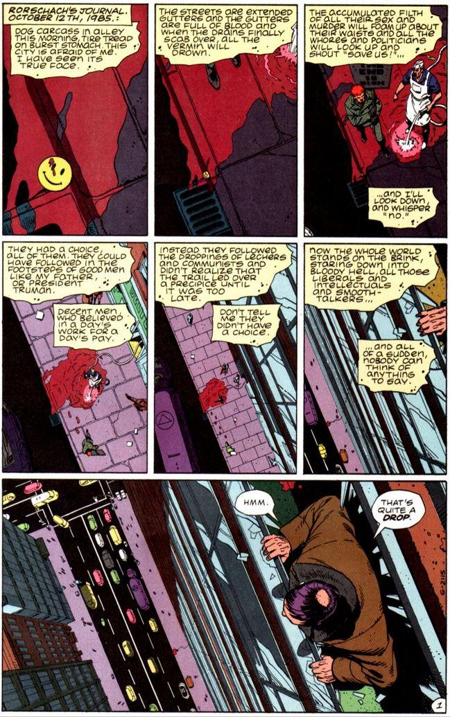 Watchmen comic page 1