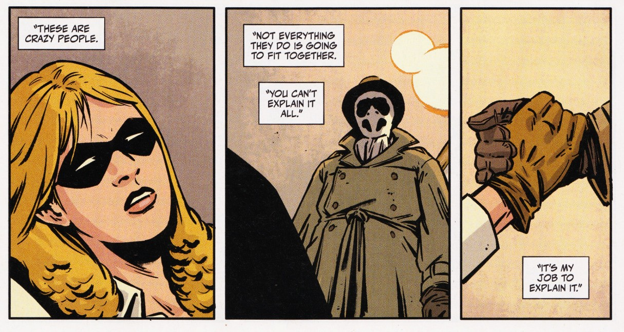Rorschach comic by King and Fornes